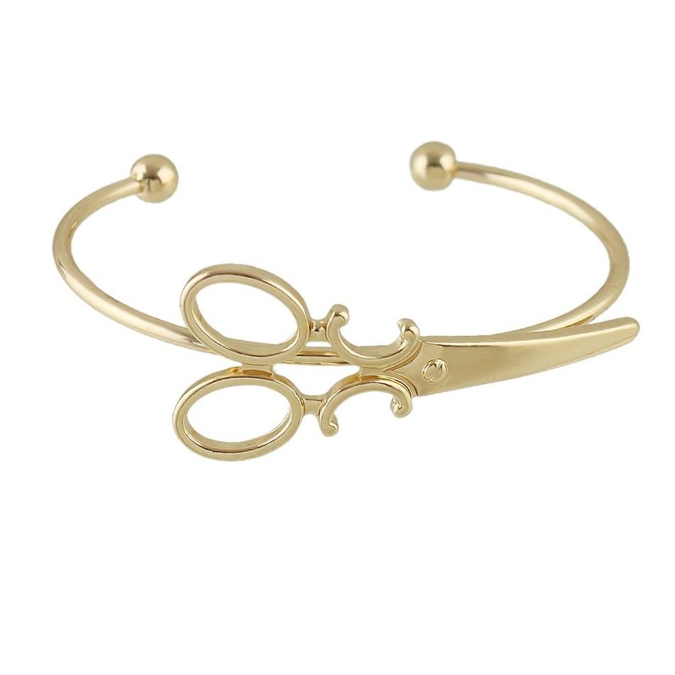 scissors-open-bangle-bracelet-gold