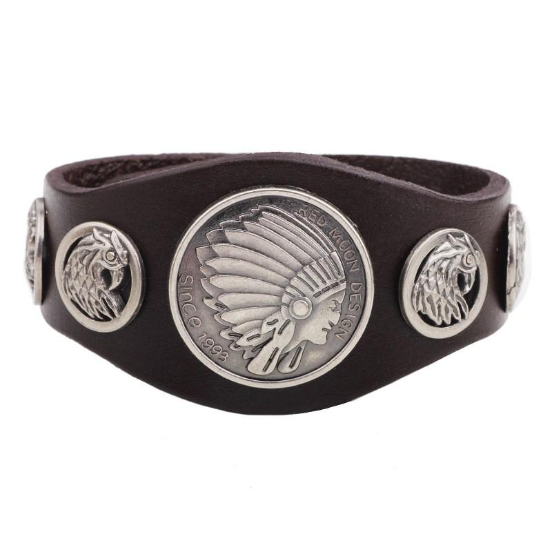 Chief-Hawk-Leather-Cuff-Bracelet-brown