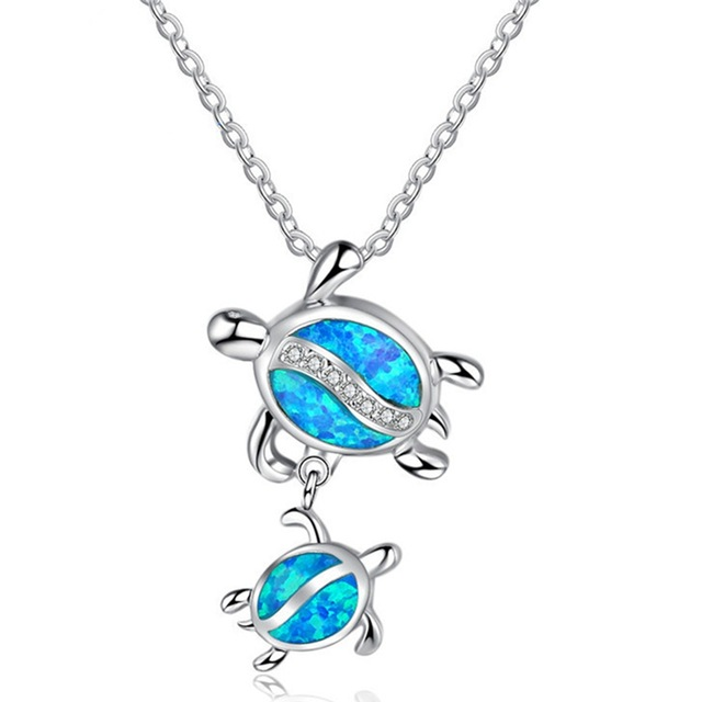 Blue-Stone-Double-Turtle-Pendants-Necklaces-For-Women-Fashion-Animal-Jewelry_4